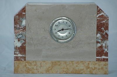 Antique French Art Deco Marble Mantle Clock.