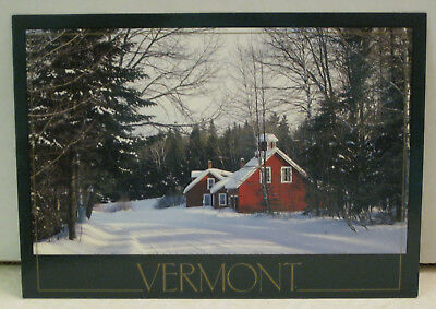 A Winter Country Road in Vermont Postcard