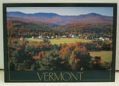Autumn Foliage View of Worchester Vermont Postcard