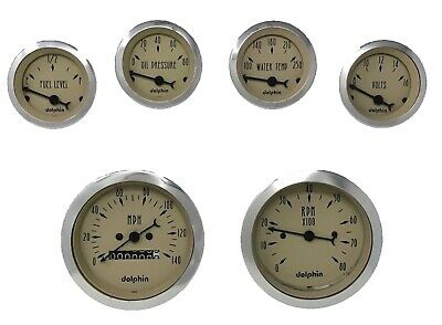6 gauge Tan mechanical speedometer set STREET ROD HOT ROD, UNIVERSAL