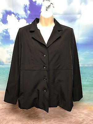 Liz Lange Maternity Black Blazer Women's Medium Career Stretch #454