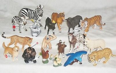 Mixed Lot of 18 Schleich Toy Animal figures mint with tags
