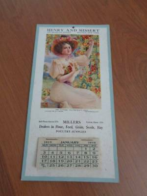Vintage 1915 Millers Poultry Store Buffalo Ny Calendar Advertising