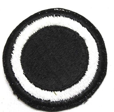 WWII I Corps 1st corps patch black white circle sew on style cut edge each P9916