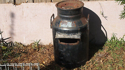 Antique Milk Can Letter Box