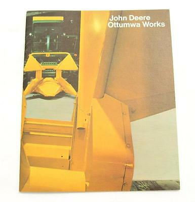 VTG John Deere Ottumwa Works Factory Tour Brochure 1972 Booklet Plant Iowa IA