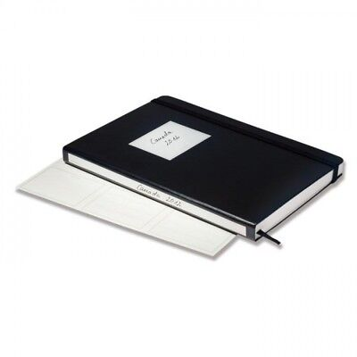 Stockbooks TRAVEL, DIN A5/Medium, 24 chamois-coloured pages with 6 glassine stri