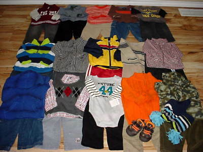 Used Baby Boy 12 18 Months Fall Winter Tops Pants Clothes Lot