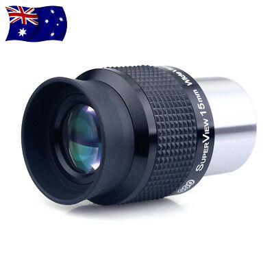 "New 1.25"" 31.7mm Wide Angle 15mm Telescope Eyepiece FMC Lens for Astronomy AU"