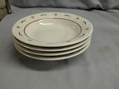 4 Longaberger Woven Traditions Red Soup/salad Bowls