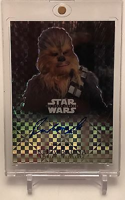 Peter Mayhew As Chewbacca Star Wars Authentic Autograph Auto Card 01/25!