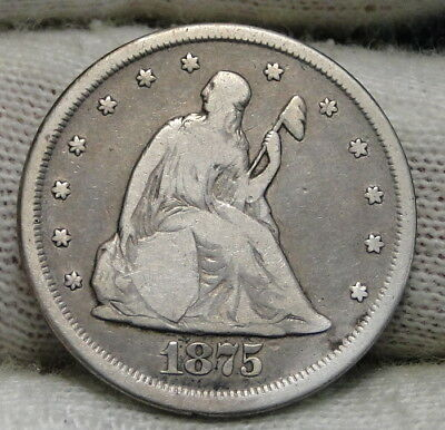 1875-CC Twenty Cent Piece 20 Cents -  Nice Coin, Free Shipping. (6549)