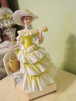 Avon 1990 President's Club Award Mrs. Albee, Lovely Victorian Lady in Yellow