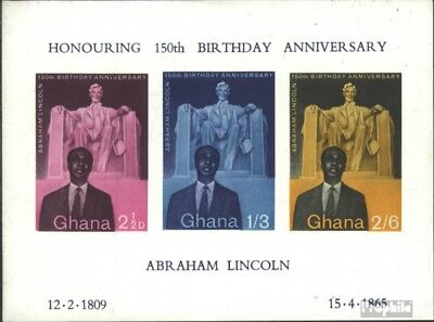 Ghana block1 (complete issue) unmounted mint / never hinged 1959 Abraham Lincoln