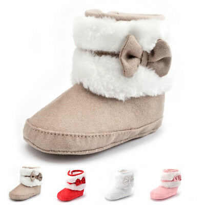 Toddler Newborn Baby Girl Soft Sole Warm Snow Booties Boots Crib Shoes 0-18M