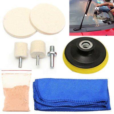 8x Glass Polishing Kit For Car SUV Windscreen Rear Side Windows Scratch Remover