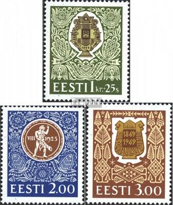 Estonia 225-227 (complete issue) unmounted mint / never hinged 1994 festival sin
