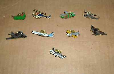 9 Pin´s Pins Avion Helicopter