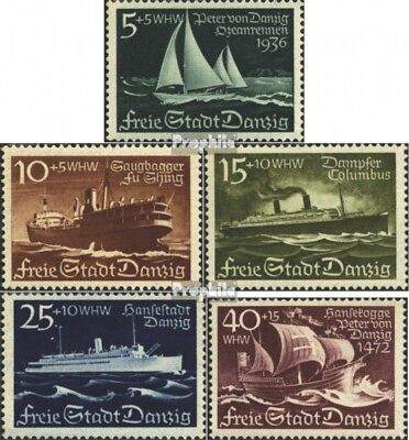 Gdansk 284-288 (complete issue) used 1938 Vessels