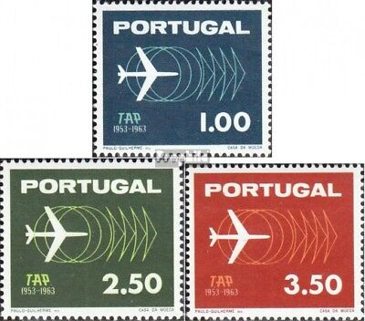 Portugal 951-953 (complete issue) used 1963 TAP
