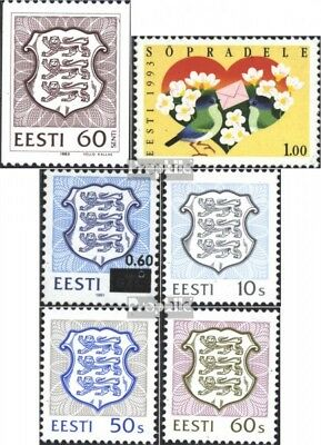 Estonia 198,199,203,204,205,211 (complete issue) unmounted mint / never hinged 1
