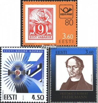 Estonia 334,335,338 (complete issue) unmounted mint / never hinged 1998 special