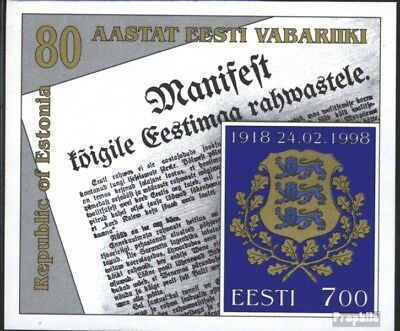 Estonia block11 (complete issue) unmounted mint / never hinged 1998 proclamation