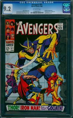 Avengers # 51  The Restored Power of Goliath !  CGC 9.2 scarce book !