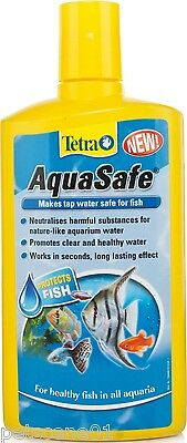 TETRA AQUA SAFE 50ML MAKES TAP WATER SAFE FOR FISH water conditioner