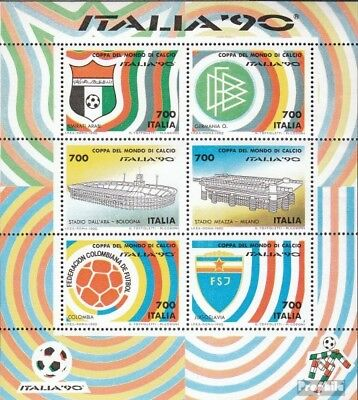 Italy block6 (complete issue) unmounted mint / never hinged 1990 Football-WM ´90