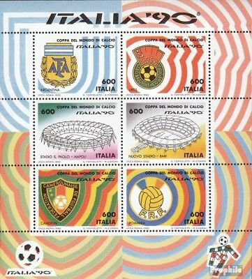 Italy block4 (complete issue) unmounted mint / never hinged 1990 Football-WM ´90