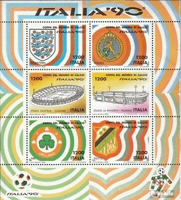 Italy block8 (complete issue) unmounted mint / never hinged 1990 Football-WM ´90