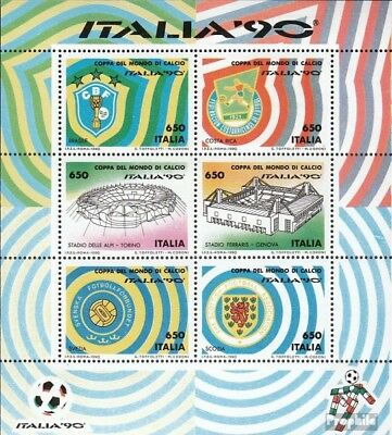 Italy block5 (complete issue) unmounted mint / never hinged 1990 Football-WM ´90