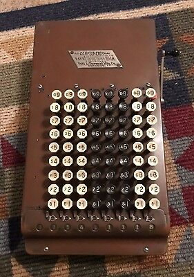 Antique Felt and Tarrant Chicago Comptometer Calculator Adding  Sept 15 1914