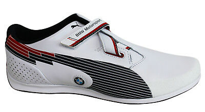 ae90f8705b2 Puma evo SPEED Low Strap Up Leather BMW Motorsport Mens Trainers 304175 03  D48
