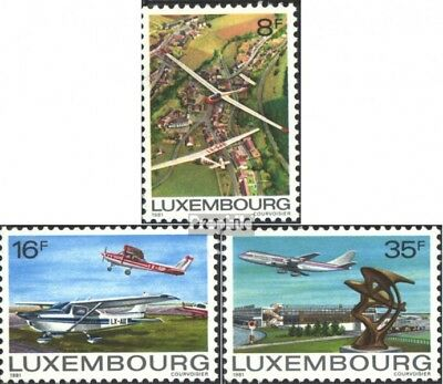 Luxembourg 1037-1039 (complete issue) used 1981 Aircraft