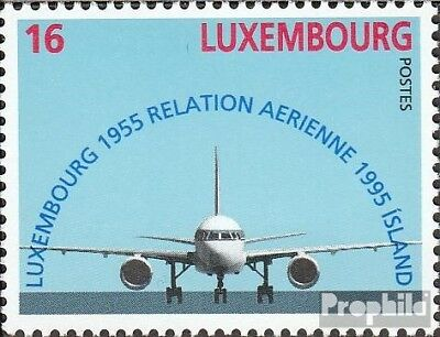 Luxembourg 1374 (complete issue) used 1995 40 years flight conn