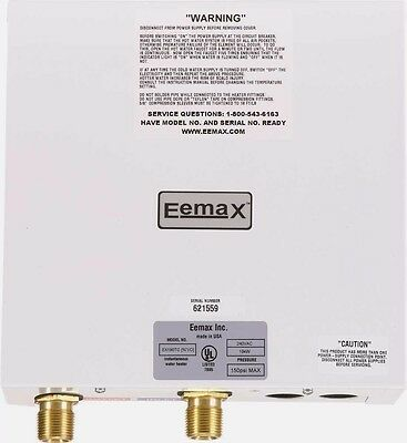 Eemax™ Whole House Electric Mini Tank Water Heater, 240 Volt, 19Kw , 3 Gpm