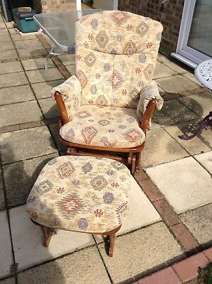 Dutailier Nursing chair and stool.Rocking Chair.