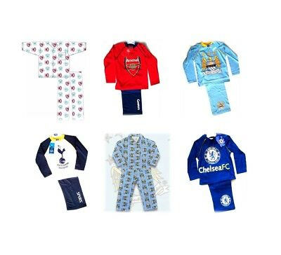 OFFICIAL FOOTBALL CLUB PYJAMAS - Boys Girls FC - Ages From 18 months to 8 years
