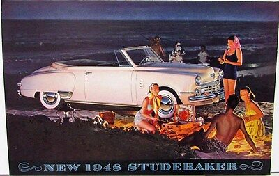 1948 Studebaker Land Cruiser Commander Champion Sales Brochure Folder Original