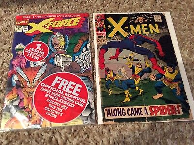 The X-Men #35 (Aug 1967, Marvel) and X-force #1