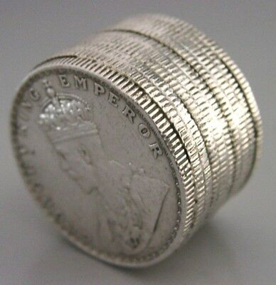 Interesting Anglo Indian Silver Half Ruppe Pile Of Coins Box 1926-1936 Antique
