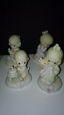 Birthday Precious Moments Figurines Ages 1 to 4