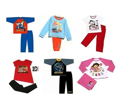 OFFICIAL CHARACTER PYJAMAS - Boys Girls Kids Child - Sizes 18 months-13 years