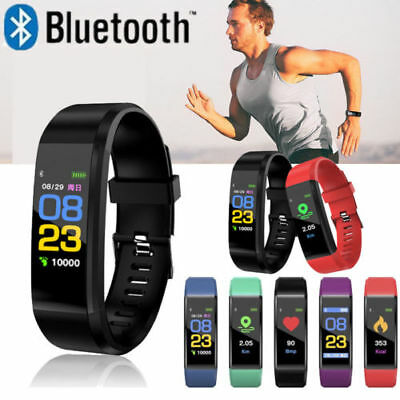 ID115 Smart Bracelet Fitness Tracker Sleep Monitor Heart Rate Sports Activity