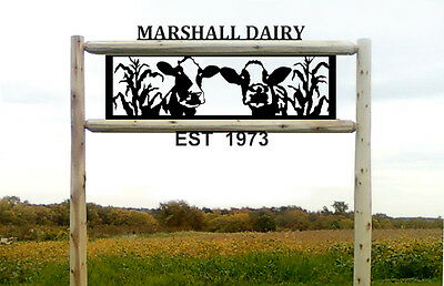 Dairy Cows-Clingermans Signs-Farm And Ranch Decor-6 Foot Post  #cow15474