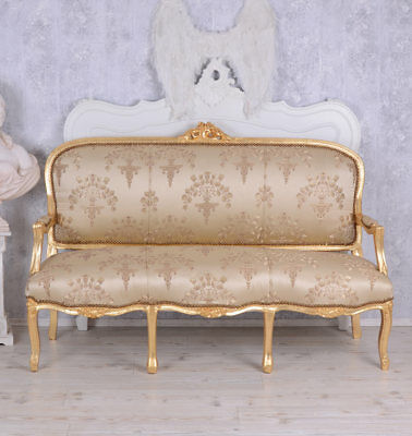 French Seating Bench Antique Style Sofa Baroque Style