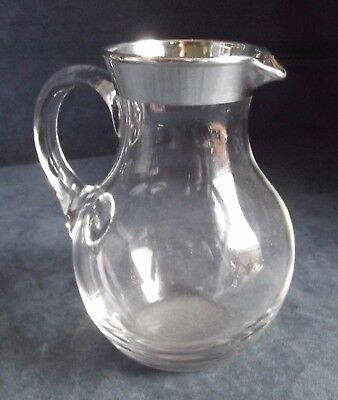 SUPERB ~ SOLID SILVER Mounted ~ Noggin WHISKEY Jug ~ S'field 2001