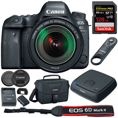 Canon EOS 6D Mark II DSLR Camera 24-105mm STM Lens CS100 Connect Station 128gb
